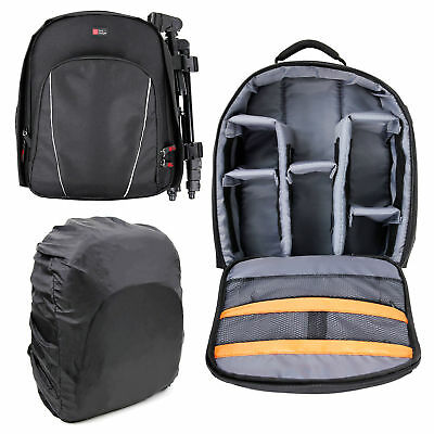 Black Backpack with Raincover for USCAMEL Military HD 10x42 / 10x50 Binoculars