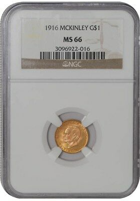 1916 $ McKinley Gold Dollar MS66 NGC