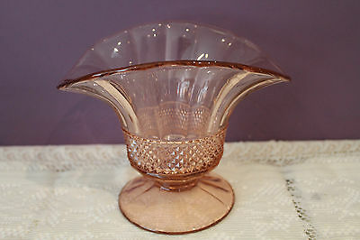 Elegant Pink Depression Glass Footed Bowl