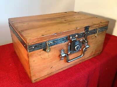 Antique,vintage WWII military Wooden tool Chest,ammunition box,Storage box.1944