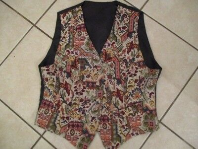 ladies tapestry polyester cotton waistcoat size 16 ,nnt
