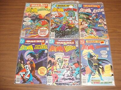 DC Comics The Brave and the Bold Presents Batman Lot of 6 #138- 184 Bronze Age