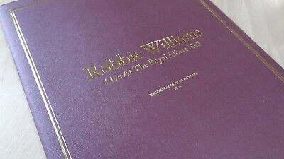 ROBBIE WILLIAMS - ROYAL ALBERT HALL PROGRAMME - one off concert