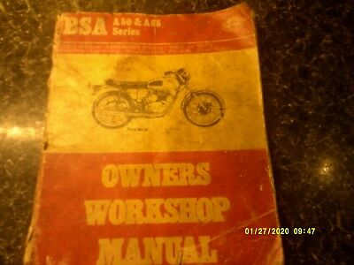 BSA A50 / A65 Haynes Owners Workshop Manual 1962/1973 USED CON FREE UK POSTAGE