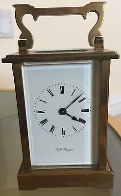 Antique Heavy Weight Carriage Clock By KJ Bradford