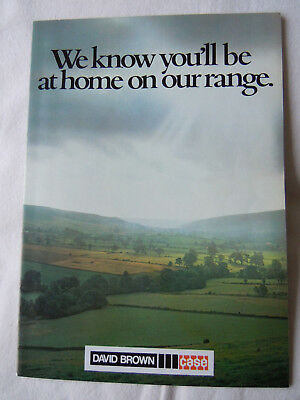 """@Vintage David Brown Tractor Brochure """"We know you'll be at home on our range""""@"""
