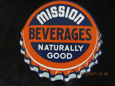 "Mission Orange Soda Decal Sign Vintage Collectible 6"" X  6""  Presto Film 1961"
