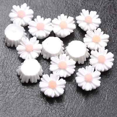 20pcs White Gorgeous Sunflower Coral Resin Spacer Beads 12MM