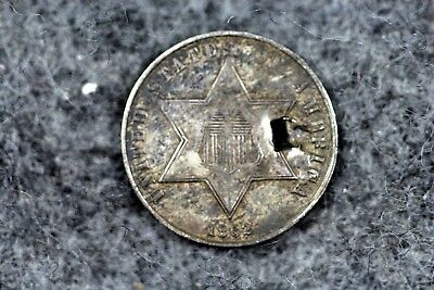 Estate Find 1862 - 3CS Three Cent Silver Coin!!!  #H4609