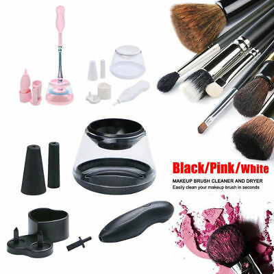 Electric Make Up Brush Cleaner & Dryer Set Cosmetic Silicone Washing Tool
