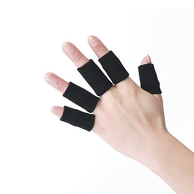 10PCS Stretchy Finger Sleeve Support Wrap Arthritis Guard Volleyball Sports