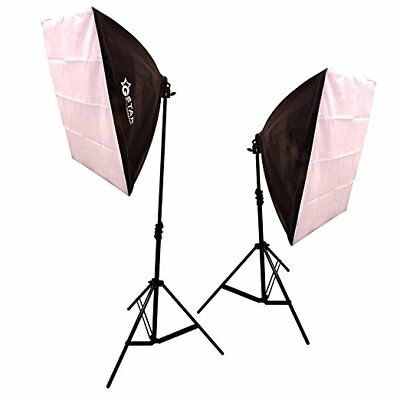 GSTAR Photography Photo Studio Softbox Lighting Kit w/ Boom Arm