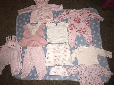Baby Girl Pink Clothes Bundle 0-3 Months