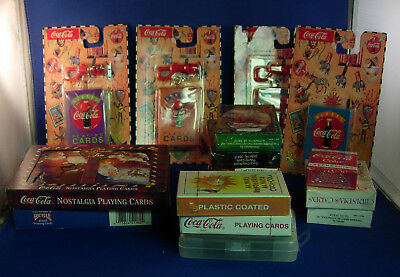 Mixed Lot of Coca-Cola Playing Cards 20 decks total                   Inv.O266