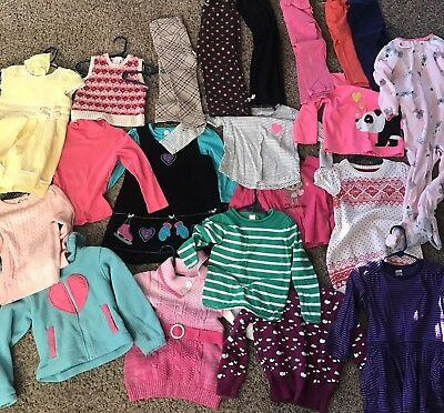 Lot Of 23 Size 3T/4T Girls Clothing Great Condition- Lots Of Brand Names