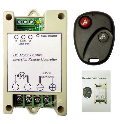 Wireless 9-30V Positive Inversion Remote Controller for DC Motor Linear Actuator