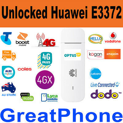 Unlocked New Huawei E3372 4G Plus 4GX  USB Modem + 4GB Data