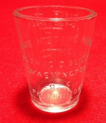 "Antique Alonzo O. Bliss Co. ""Our Native Herbs"" Washington D.C. Dosage Glass"