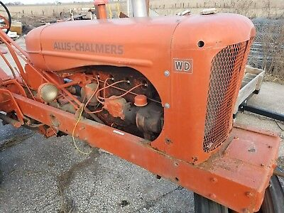 allis chalmers wd tractor for project or parts
