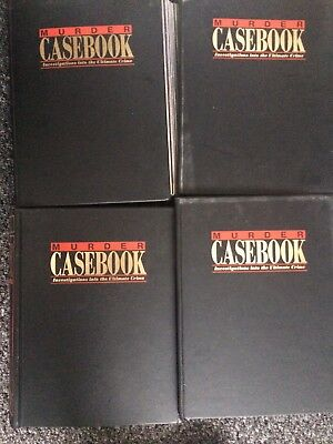 60 ISSUES OF MARSHALL CAVENDISH'S MURDER CASEBOOK SERIES:1-60 With Binders 1-4