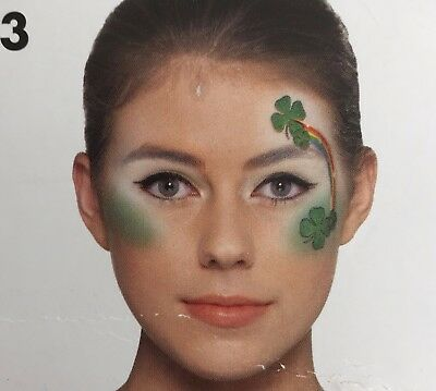 St Patricks Day Make Up Kit 4 Leaf Clovers and Rainbow Claire's Cosmetic Kit