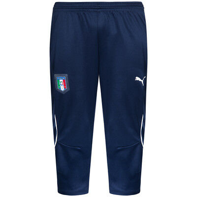 Italien PUMA FIGC Herren 3/4 Short Fußball Trainings Pants Hose 748982-04 Italia