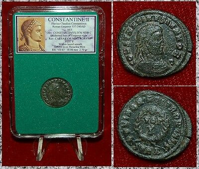 Ancient Roman Empire Coin Of CONSTANTINE II Wreath VOT V On Reverse Heraclea