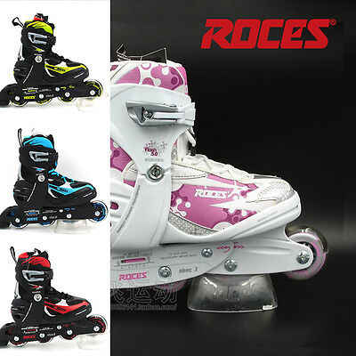 New - Roces Adjustable Girls/Kids Inline Skates/Rollerblades -PINK- Sizes US 4-7