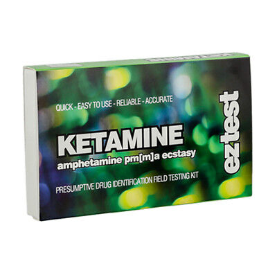 SUPER SALE !! Genuine EZ Test Testing Kit Ketamine, PMA/PMMA, Amphetamine & XTC.
