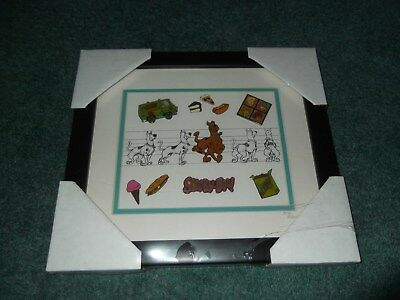NWT Warner Brothers Store Scooby Doo Limited Edition Framed Pin Set 317/1500