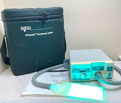 OHMEDA BILIBLANKET PLUS HIGH OUTPUT BLUE PHOTOTHERAPY SYSTEM & MAT goLITE SAD