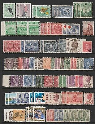 Australian Pre Decimal Stamps Mint - Collection of 90+ Definitives (#131201)
