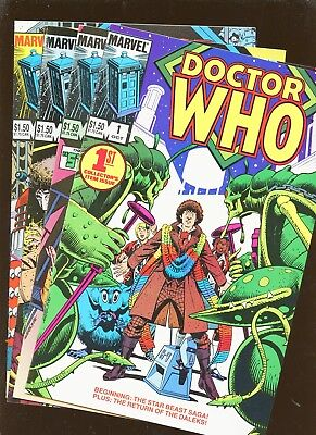 Doctor Who 1-4 * 4 Book Lot * Dave Gibbons - Marvel 1985!!!