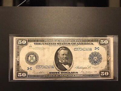 1914 Large Size FIFTY $50 bill
