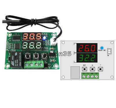 DC12V -50 to 110℃ Dual LED Digit Relay Temperature Controller Thermostat Switch