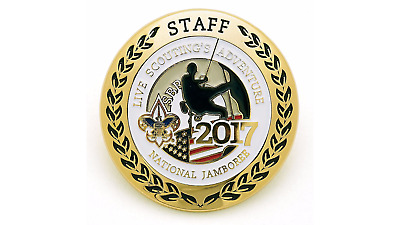 Boy Scout Official 2017 National Jamboree Cloisonne Staff Neckerchief Slide New