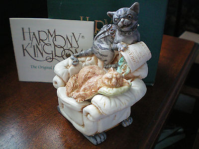 Harmony Kingdom Fishy Business Cats UK Made Collect it! magazine readership exc