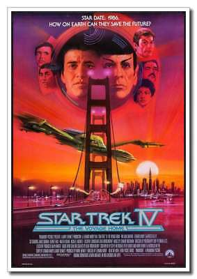 Star Trek IV 4 The Voyage Home 24x36inch Old Movie Large Silk Poster New