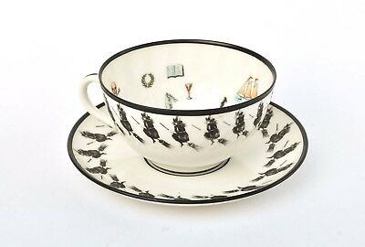 Rare Petersyn Co Fortune Telling Gypsy Tea Reading Cup & Saucer Austria Witch