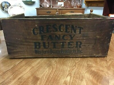 Rare Vintage Wooden Western Dairy Products Inc. COMPANY CRATE/BOX