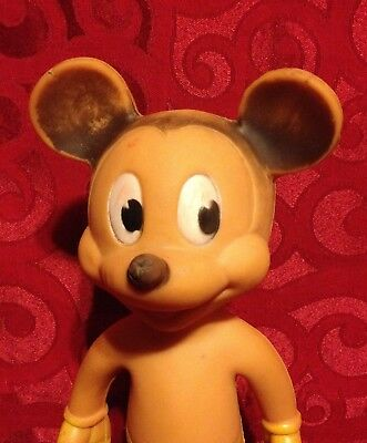 """Sun Rubber Mickey Mouse Disney 10"""" Squeeky Toy"""