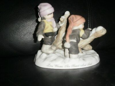 Enesco Kim Anderson 2003 Limited Edition Love Warms... Kids Figure Winter GUC