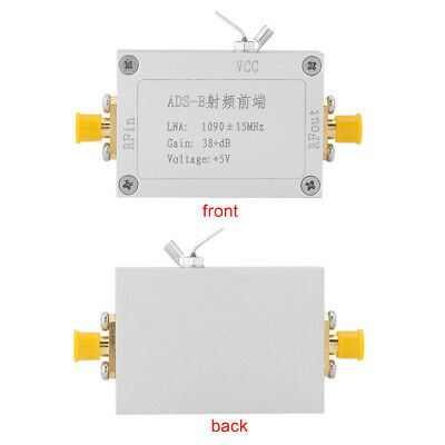 ADS-B 1090MHz RF Front-end Radio Frequency Amplifier 38dB Gain LNA 3.3V~5.0V DC