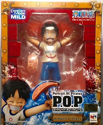 "One Piece Portrait Of Pirates P.O.P. Monkey D Luffy 5"" Figure Megahouse New"