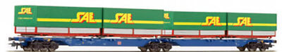 ROCO-67417-Goods Wagons Container cars (HO SCALE)