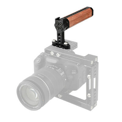 CAMVATE Top Cheese Handle Wood Wooden Hand Grip for DSLR Camera Cage