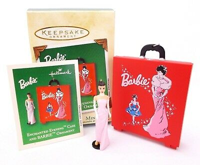 Hallmark 2002 BARBIE Enchanted Evening Case & Ornament Christmas Ornaments