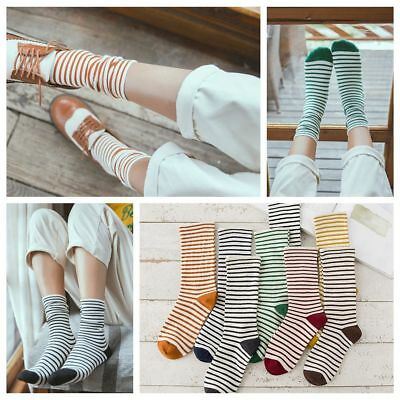 Cute Ankle Elastic Hosiery Knit Cotton Striped Socks