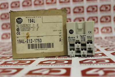 Allen Bradley 194L-E12-1753 IEC Load Switch - Series A - New Surplus Open