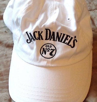 Jack Daniels Baseball Style Golf Hat - White - Traditional Logo - NEW